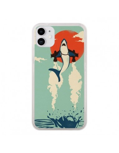 Coque iPhone 11 Requin Avion Volant - Jay Fleck