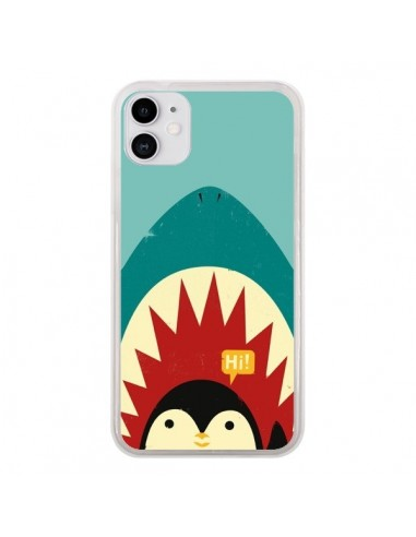 Coque iPhone 11 Pingouin Requin - Jay Fleck