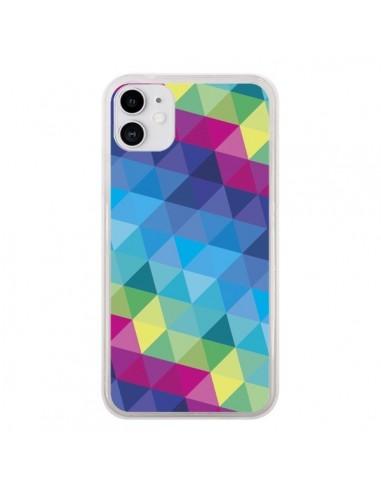 Coque iPhone 11 Azteque Gheo Bleu - Javier Martinez