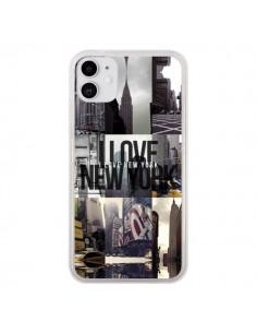 Coque iPhone 11 I love New Yorck City noir - Javier Martinez