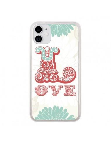 Coque iPhone 11 Love Fleurs Flourish - Javier Martinez