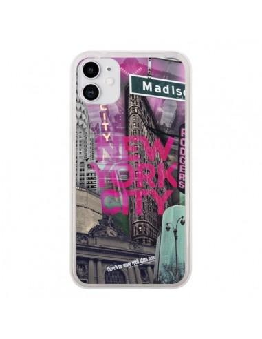 Coque iPhone 11 New York City Rose - Javier Martinez