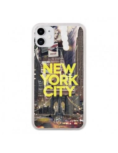 Coque iPhone 11 New York City Jaune - Javier Martinez
