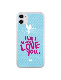 Coque iPhone 11 I will always love you Cupidon - Javier Martinez