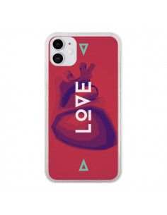 Coque iPhone 11 Love Coeur Triangle Amour - Javier Martinez