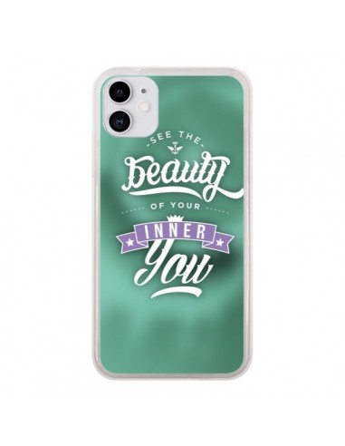 Coque iPhone 11 Beauty Vert - Javier Martinez