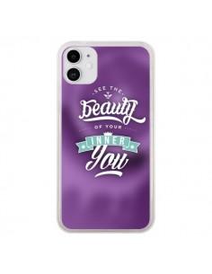 Coque iPhone 11 Beauty Violet - Javier Martinez