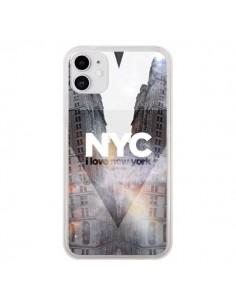 Coque iPhone 11 I Love New York City Orange - Javier Martinez
