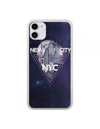 Coque iPhone 11 New York City Triangle Rose - Javier Martinez