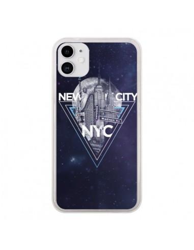 Coque iPhone 11 New York City Triangle Bleu - Javier Martinez