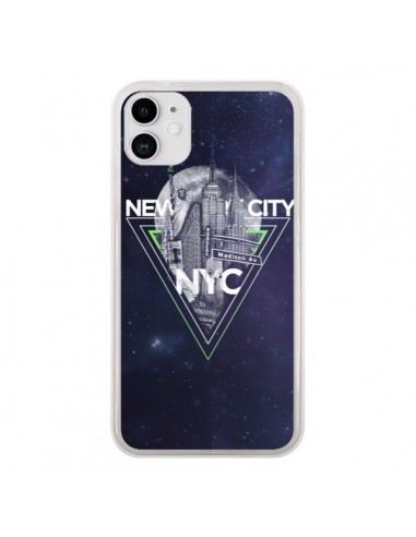Coque iPhone 11 New York City Triangle Vert - Javier Martinez