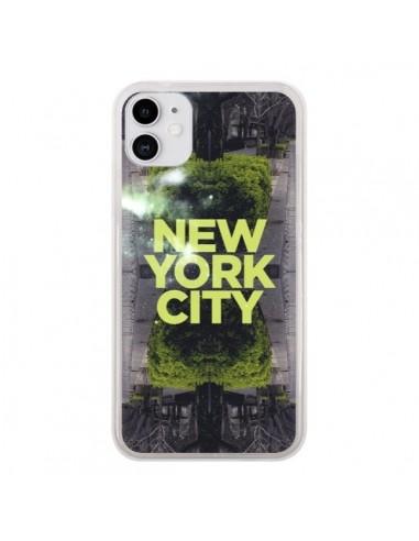 Coque iPhone 11 New York City Vert - Javier Martinez
