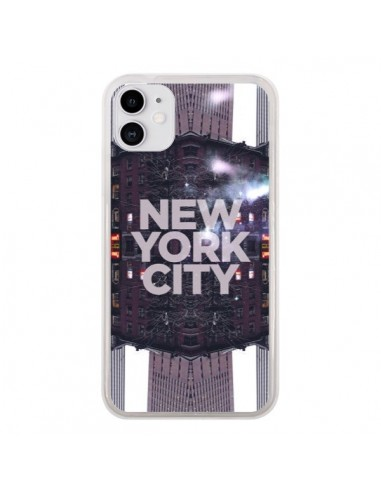 Coque iPhone 11 New York City Violet - Javier Martinez