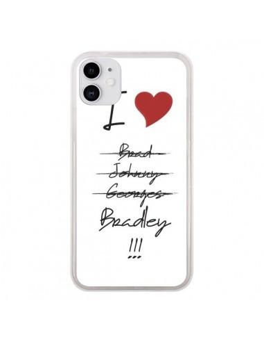 Coque iPhone 11 I love Bradley Coeur Amour - Julien Martinez