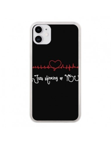 Coque iPhone 11 Just Thinking of You Coeur Love Amour - Julien Martinez