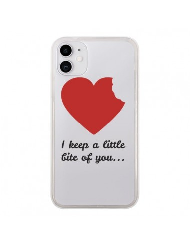 Coque iPhone 11 I keep a little bite of you Love Heart Amour Transparente - Julien Martinez