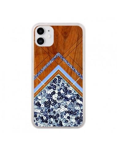 Coque iPhone 11 Sequin Geometry Bois Azteque Aztec Tribal - Jenny Mhairi