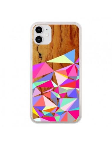 Coque iPhone 11 Wooden Multi Geo Bois Azteque Aztec Tribal - Jenny Mhairi