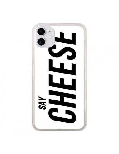 Coque iPhone 11 Say Cheese Smile Blanc - Jonathan Perez