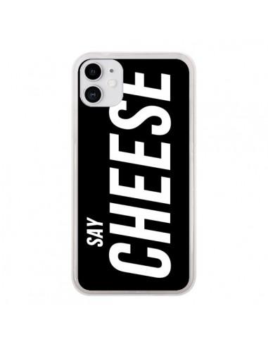 Coque iPhone 11 Say Cheese Smile Noir - Jonathan Perez