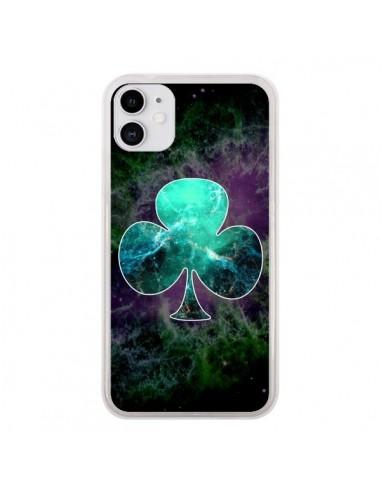 Coque iPhone 11 Nebula Club Trèfle Galaxie - Jonathan Perez