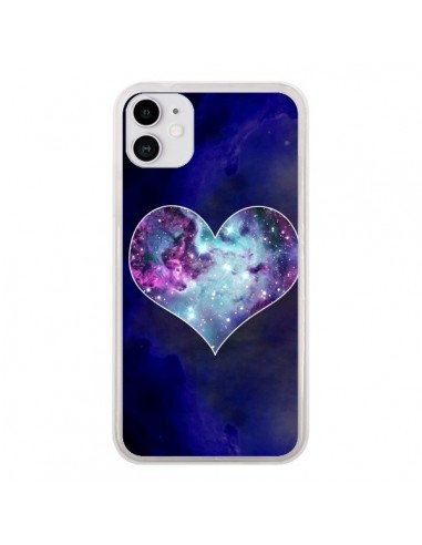 Coque iPhone 11 Nebula Heart Coeur Galaxie - Jonathan Perez