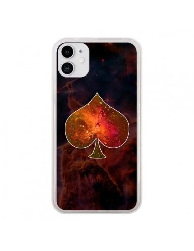 Coque iPhone 11 Nebula Spade Pique Galaxie - Jonathan Perez