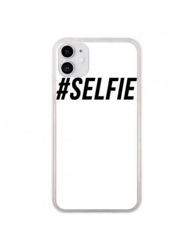 Coque iPhone 11 Hashtag Selfie Noir Vertical - Jonathan Perez