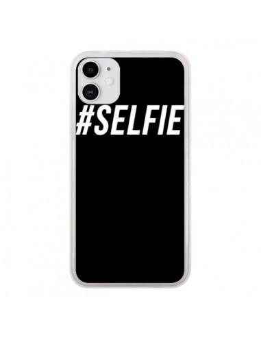 Coque iPhone 11 Hashtag Selfie Blanc Vertical - Jonathan Perez