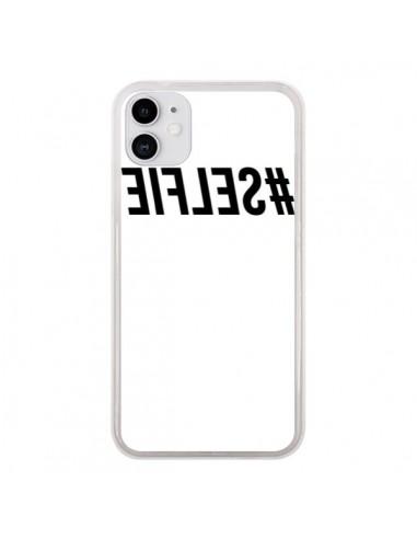 Coque iPhone 11 Hashtag Selfie Noir Inversé - Jonathan Perez