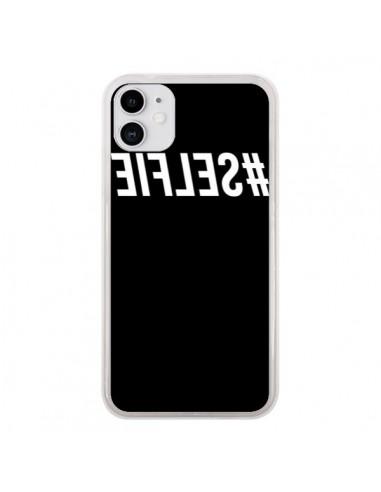 Coque iPhone 11 Hashtag Selfie Blanc Inversé - Jonathan Perez