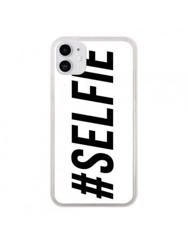 Coque iPhone 11 Hashtag Selfie Blanc Horizontal - Jonathan Perez