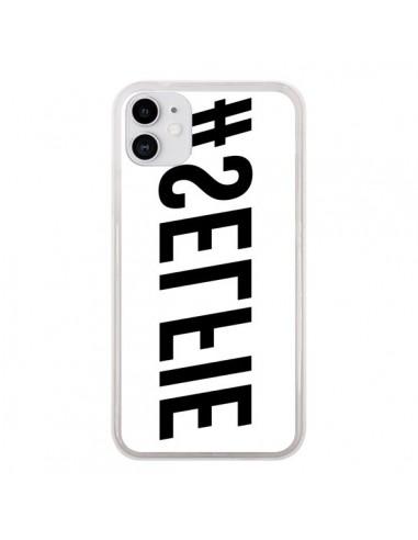 Coque iPhone 11 Hashtag Selfie Noir Inversé Horizontal - Jonathan Perez