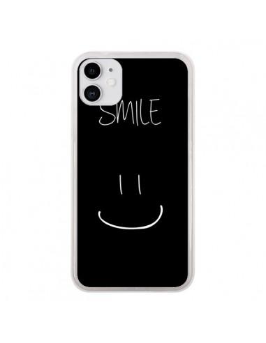 Coque iPhone 11 Smile Souriez Noir - Jonathan Perez