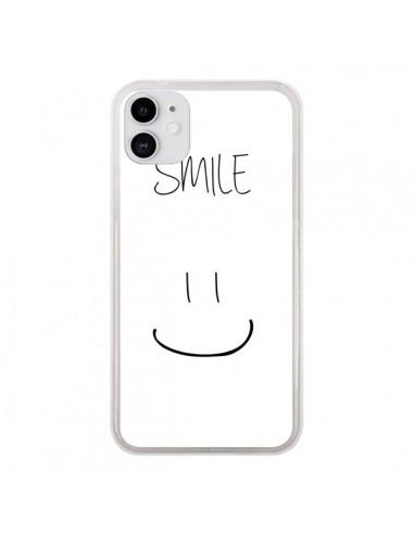 Coque iPhone 11 Smile Souriez en Blanc - Jonathan Perez