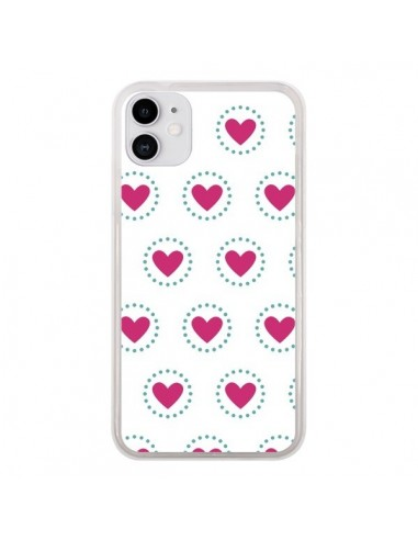 Coque iPhone 11 Coeur Cercle - Jonathan Perez