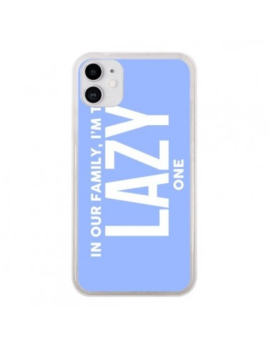 Coque iPhone 11 In our family i'm the Lazy one - Jonathan Perez