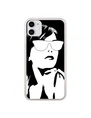 Coque iPhone 11 Fille Lunettes Blanches - Jonathan Perez