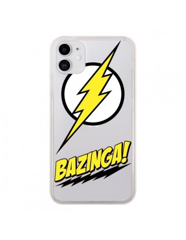 Coque iPhone 11 Bazinga Sheldon The Big Bang Thoery Transparente - Jonathan Perez