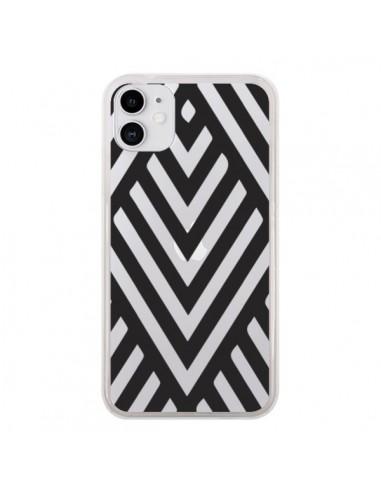 Coque iPhone 11 Geometric Azteque Noir Transparente - Dricia Do