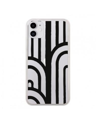 Coque iPhone 11 Geometric Noir Transparente - Dricia Do