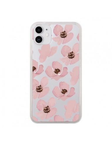 Coque iPhone 11 Fleurs Roses Flower Transparente - Dricia Do