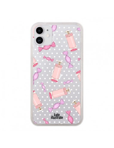 Coque iPhone 11 Candy Bonbons Transparente - kateillustrate