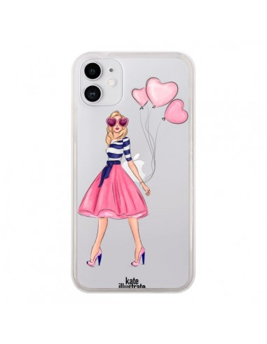 Coque iPhone 11 Legally Blonde Love Transparente - kateillustrate