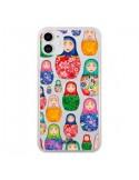 Coque iPhone 11 Matryoshka Dolls Poupées Russes Transparente - kateillustrate