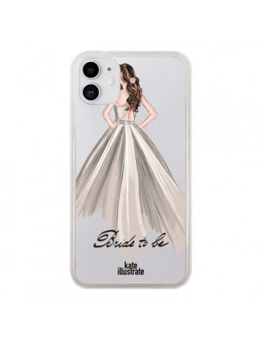 Coque iPhone 11 Bride To Be Mariée Mariage Transparente - kateillustrate