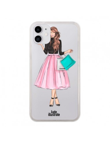Coque iPhone 11 Shopping Time Transparente - kateillustrate