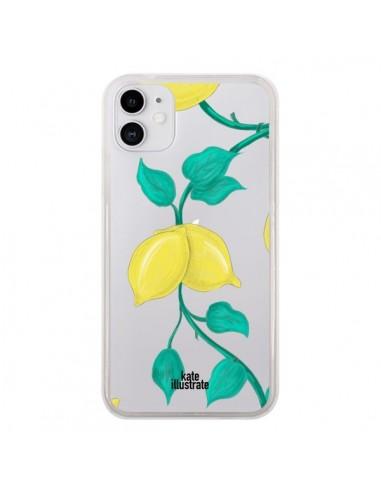 Coque iPhone 11 Lemons Citrons Transparente - kateillustrate
