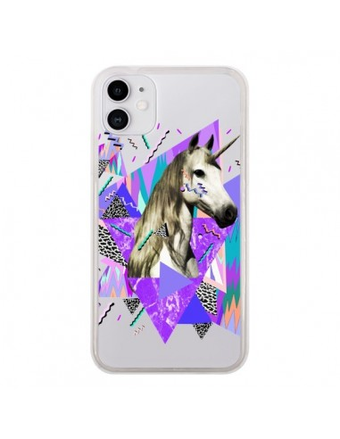 Coque iPhone 11 Licorne Unicorn Azteque Transparente - Kris Tate