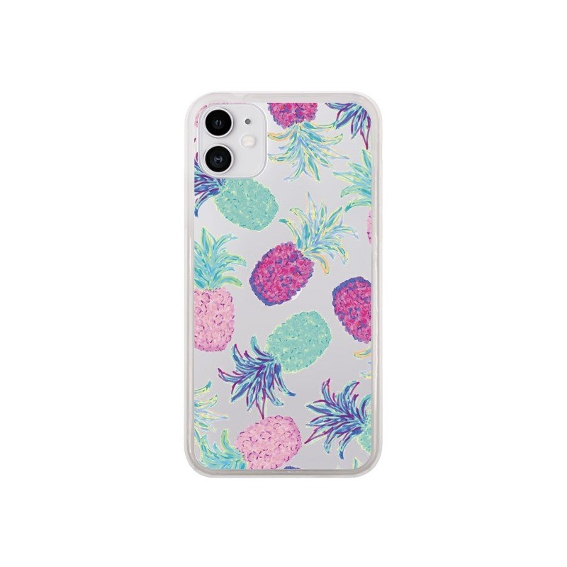 Coque iPhone 11 Ananas Pineapple Fruit Ete Summer Transparente - Lisa Argyropoulos